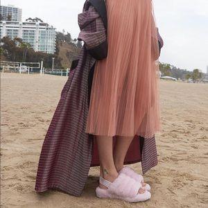 8904a07fe UGG Shoes | Fluff Yeah Fuzzy Slides Seashell Pink 6 | Poshmark